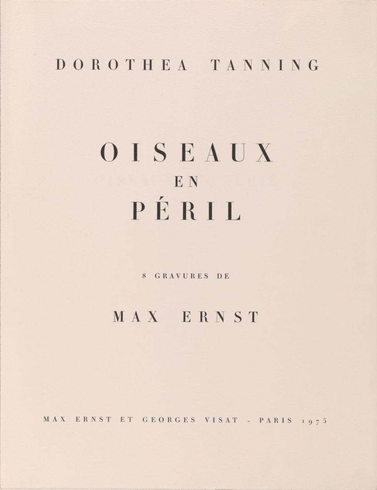 Tanning, Dorothea, Oiseaux en péril