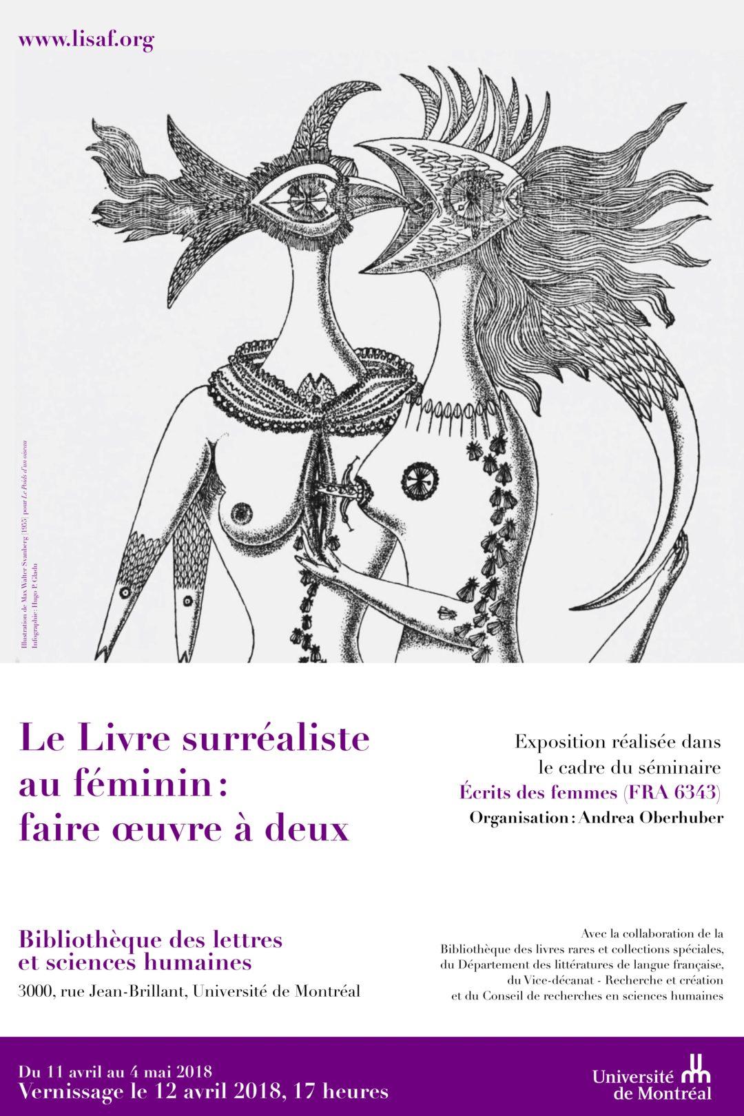 Exposition 2018 : Le Livre surréaliste au féminin: faire œuvre à deux